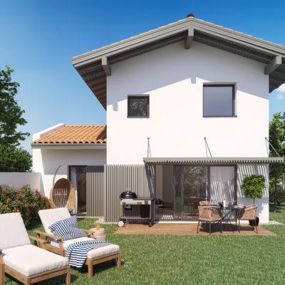 maison individuelle neuve anglet jardin terrasse garage fermé