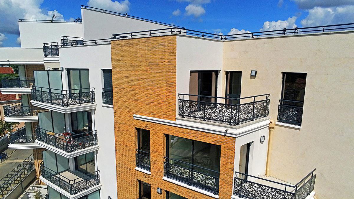immobilier neuf à châtillon, vue cour tour de biret