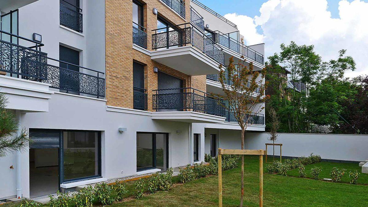 immobilier neuf à châtillon, vue jardin de tour de biret
