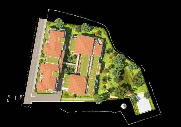 Plan de masse Villa Artea