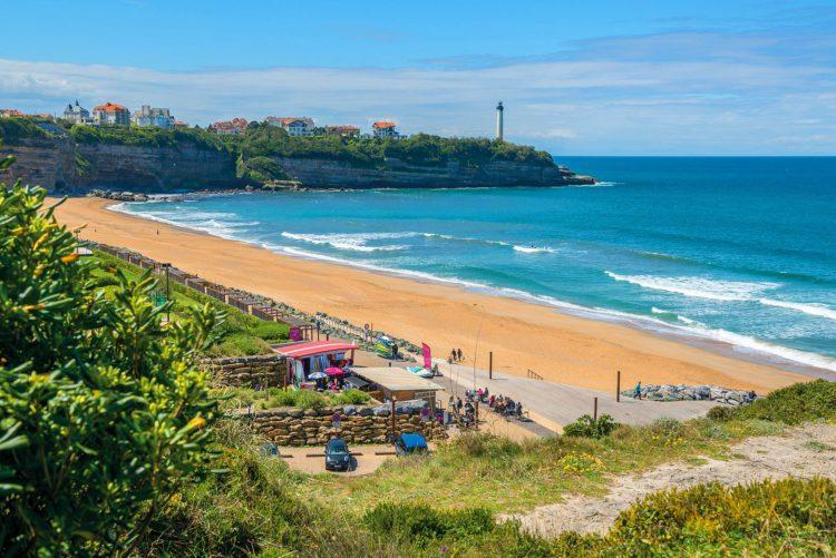 plage d'anglet phare été surf immobilier