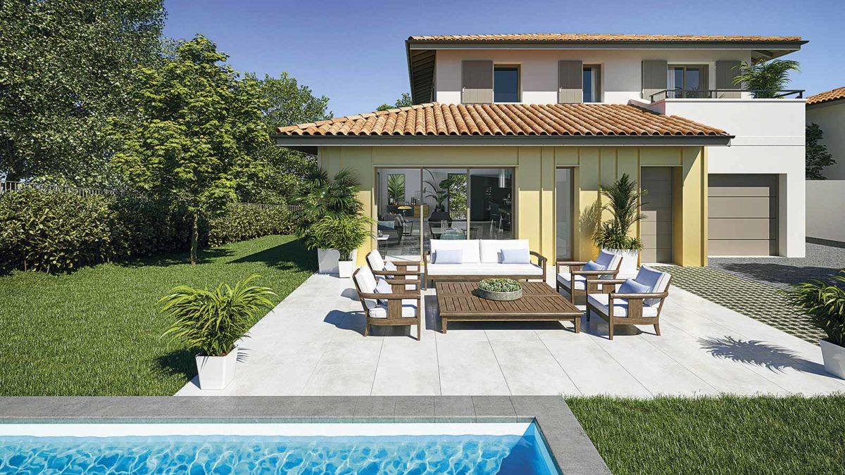piscine jardin villa haut de gamme anglet plage maison neuve