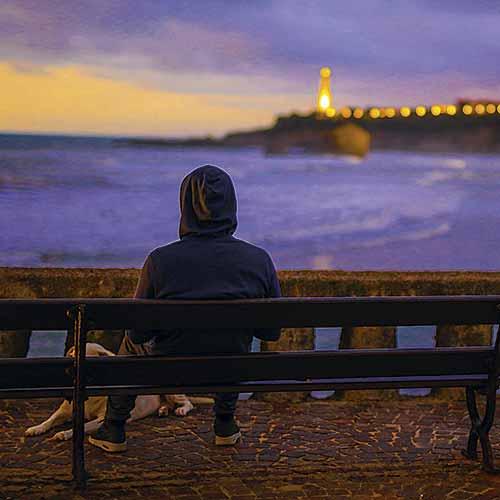 biarritz sunset phare grande plage ocean