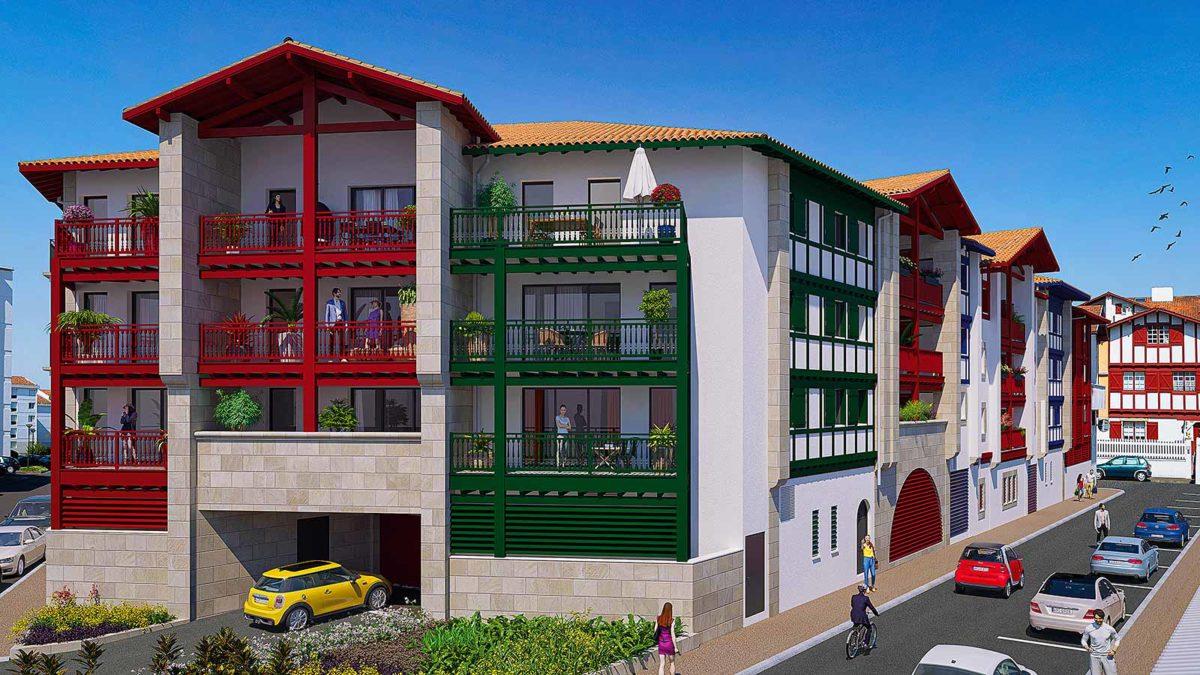 Résidence Santiago quartier Fargeot saint-jean-de-luz résidence neuve