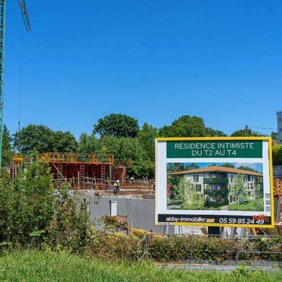 résidence neuve bayonne en cours de construction T2 T3 T4 arking balcon terrasse