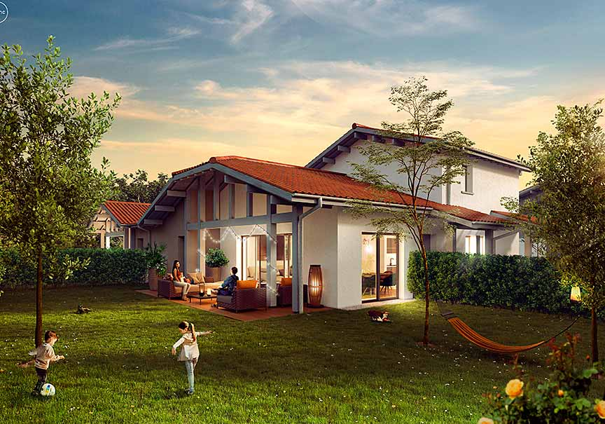 villa california immobilier neuf à soorts hossegor