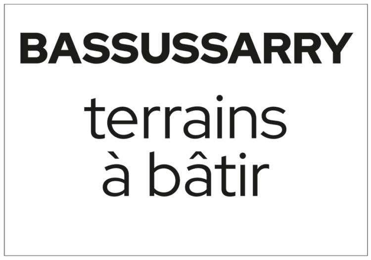 Terrains à bâtir à Bassussarry
